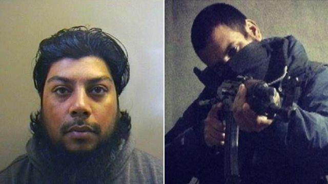 Abu Aziz (l), Junaid Hussain (r)
