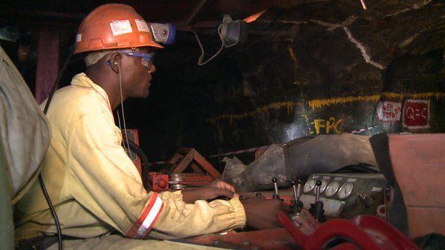 Miner in Zimbabwe