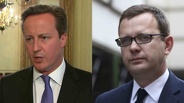David Cameron (left) and Andy Coulson (right)