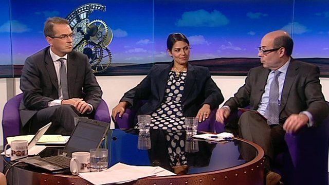Owen Smith, Priti Patel and Nick Robinson