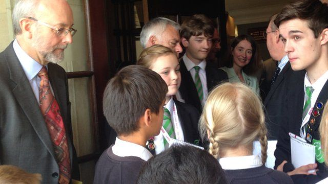 Sirius Academy School Reporters quiz Education Select Committee