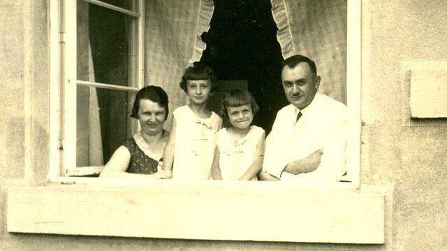 Jaroslava and her family in Lidice