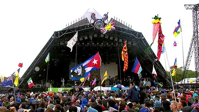 Lights go out on Glastonbury stage