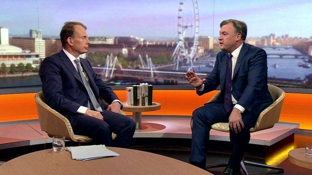 Andrew Marr and Ed Balls