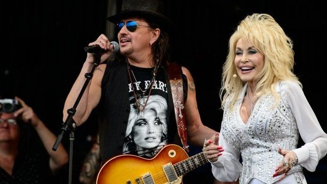 Dolly Parton with Richie Sambora
