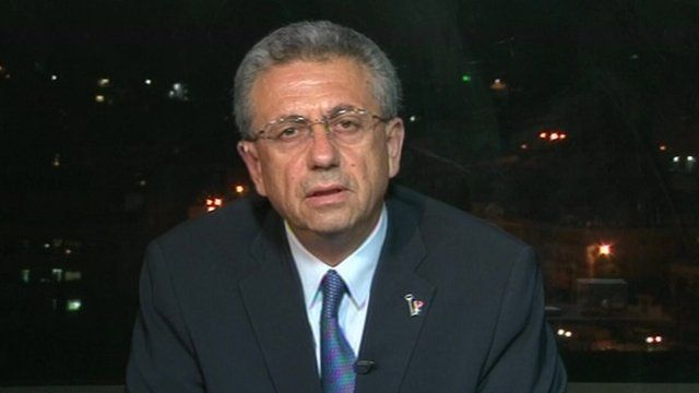 Dr Mustafa Barghouti of the Palestinian National Initiative party