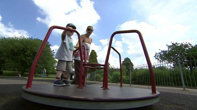 Play roundabout in local park