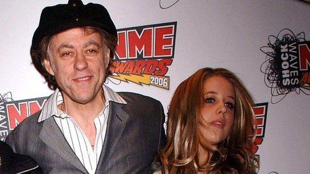 Bob and Peaches Geldof in 2006