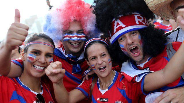 Costa Rica football fans