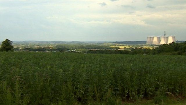 Proposed site close to East Midlands Airport