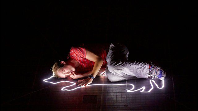 A scene from The Curious Incident of the Dog in the Night Time