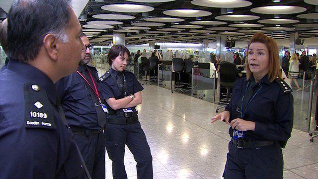 Border force at Heathrow