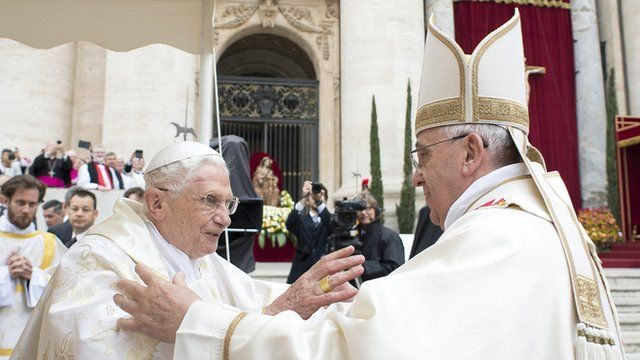 Pope Emeritus Benedict XVI and Pope Francis
