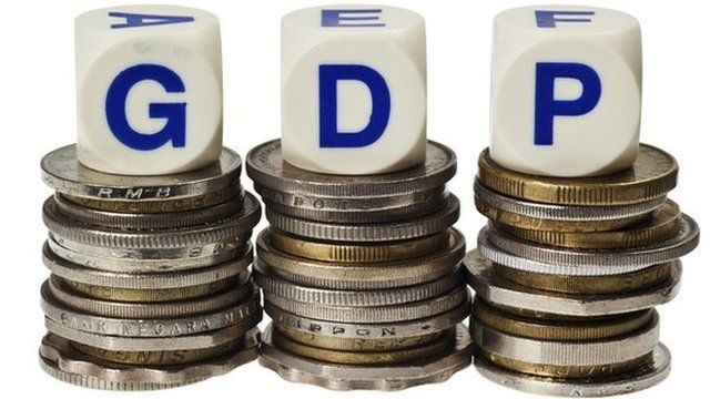 GDP letters on coins