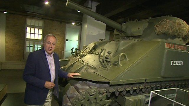 Robert Hall with tank