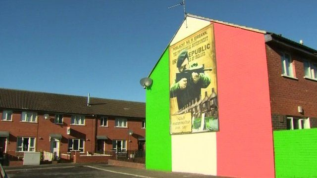 An Irish mural in Belfast