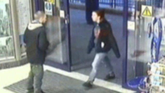 CCTV of Ben Blakeley and Jayden Parkinson