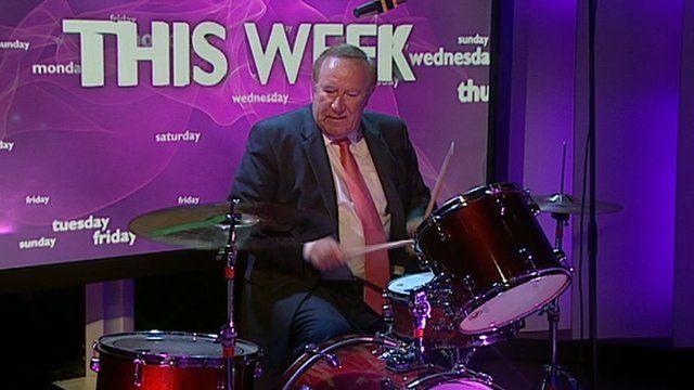 Andrew Neil on the drums