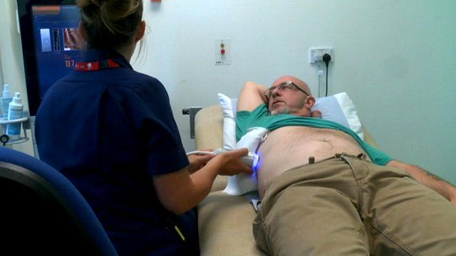 Patient being tested