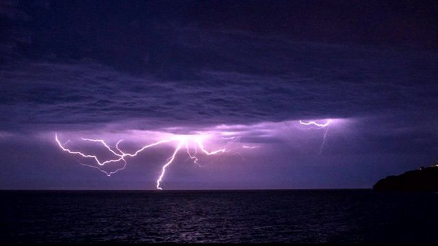 Lightning on the South coast