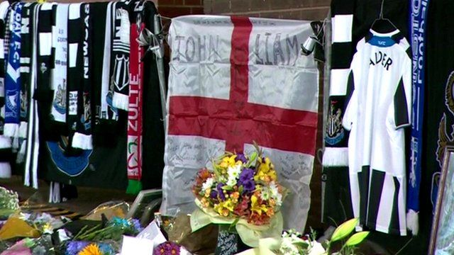 Tributes to Newcastle United fans John Alder and Liam Sweeney
