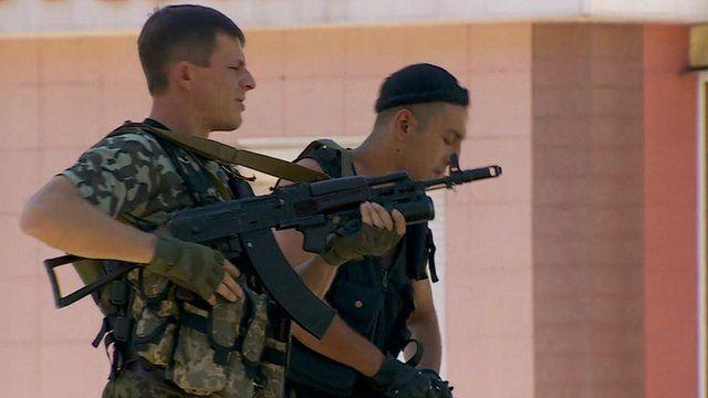 Rebels in Donetsk