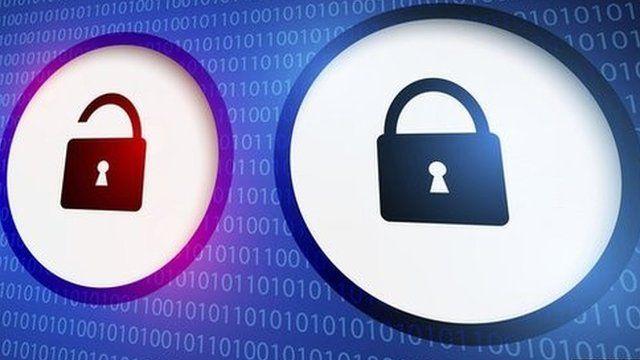 Internet padlock icons