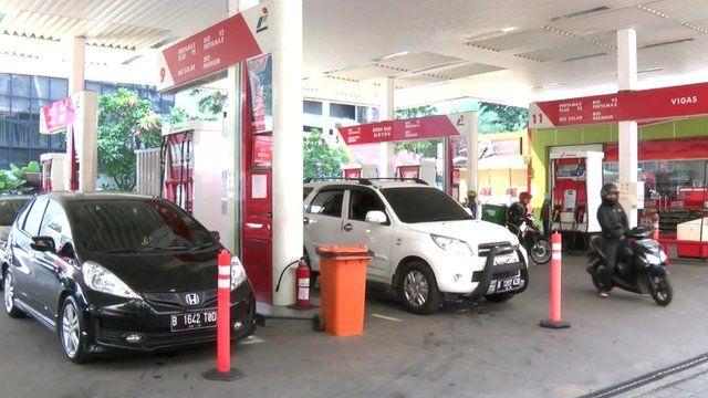Jakarta petrol station
