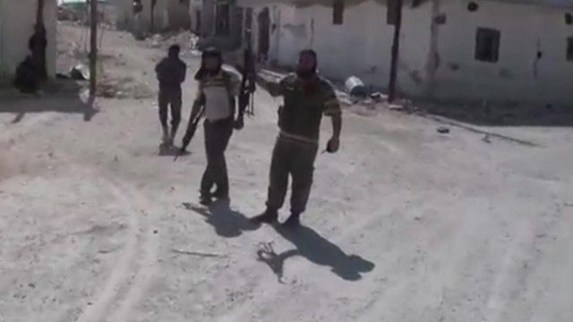 Fighters in Syria