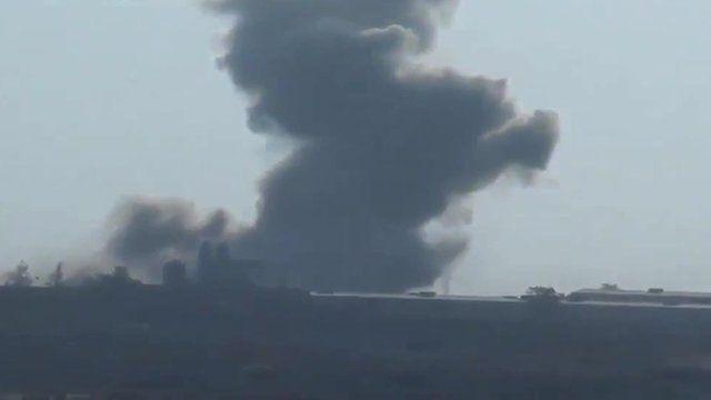 Syrian airstrike on Isis position near Raqqa