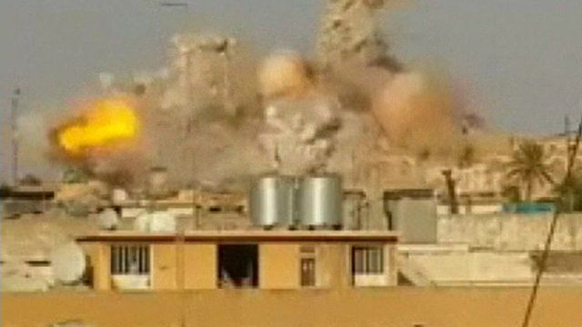Shrine blown up in Mosul