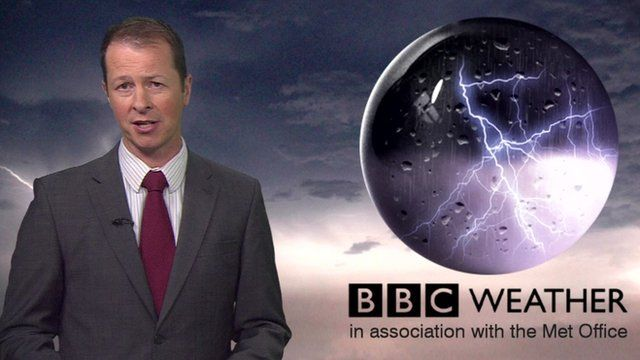 Darren Bett and weather graphic
