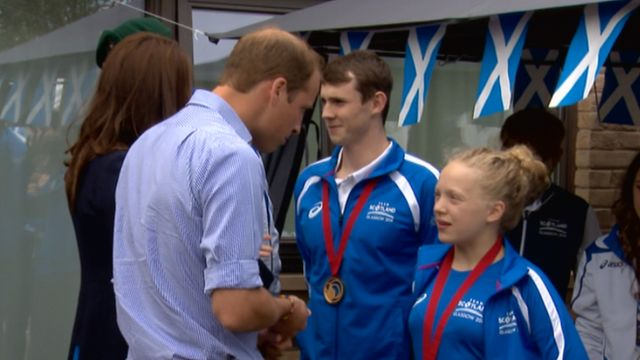 Prince William and Kate meet Ross Murdoch and Erraid Davies