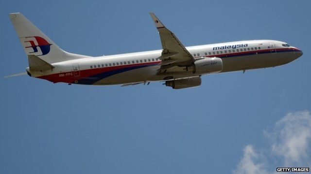 A Malaysia Airlines Boeing 737 plane