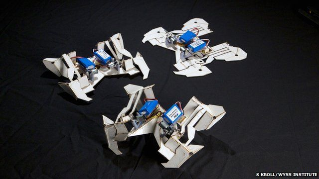 Self-folding robots (c) S Kroll/Wyss Institute