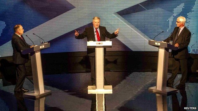 Alex Salmond and Alistair Darling debate