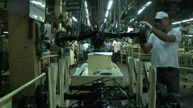 Indian factory worker