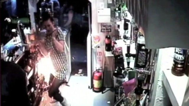 An e-cigarette on charge in a pub in Yorkshire blew up