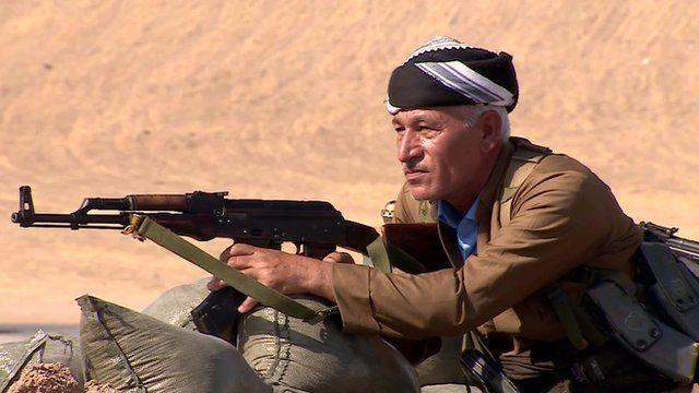 A man with a gun