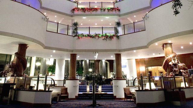 Celtic Manor lobby