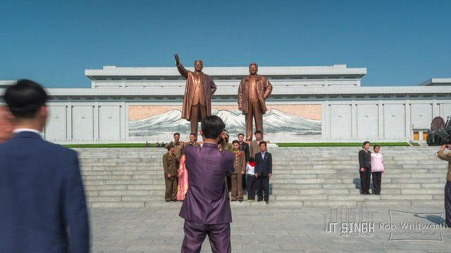 Statues in Pyongyang
