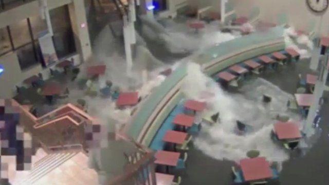 Water inside Good Samaritan Hospital