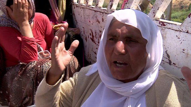 A Yazidi refugee