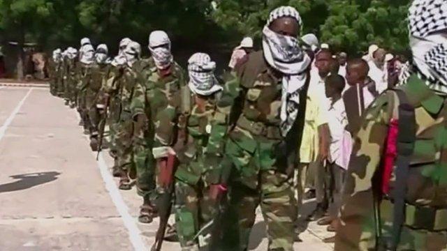 Still from an Al Shabab video