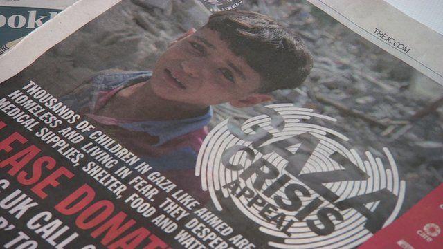 Gaza crisis appeal advert