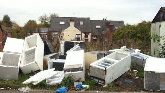 Waste fridges