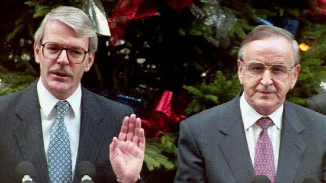 Sir John Major (left) and Albert Reynolds