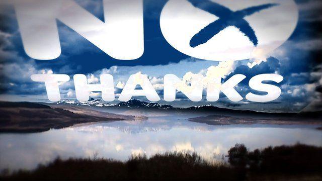 No Thanks in skyline of Scottish highlands