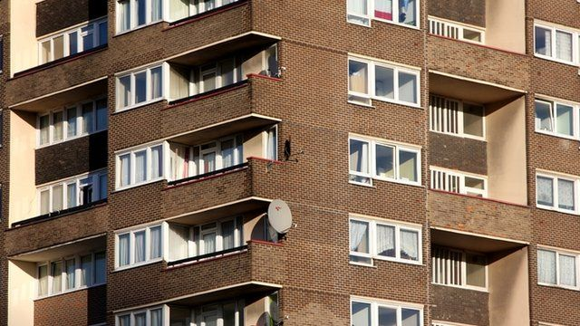 A housing estate in London