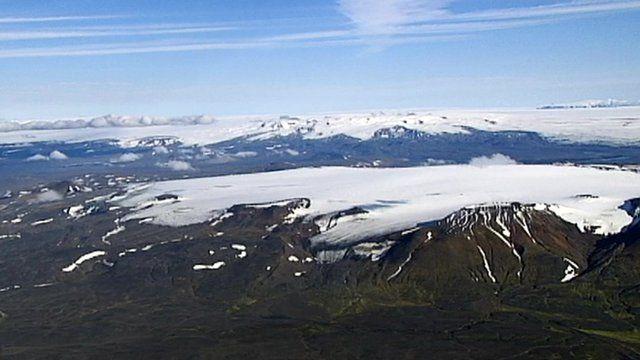 Aerial view of Bardarbunga volcano